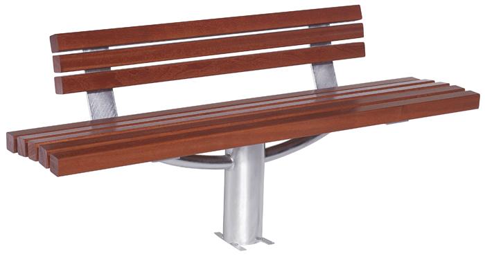 banc bois et acier galvanis brasilia est un banc tres. Black Bedroom Furniture Sets. Home Design Ideas