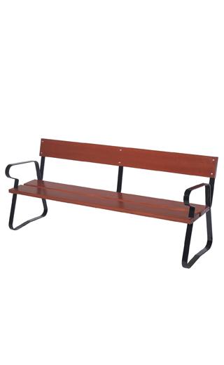 banc bois et acier m ribel banc solide et resistant dans. Black Bedroom Furniture Sets. Home Design Ideas