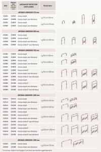 Dimensions arceaux de protection 76 mm