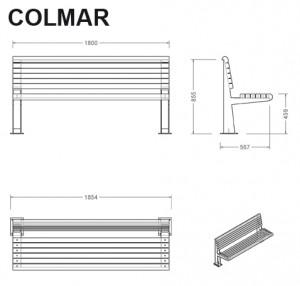 Banc bois et acier Colmar
