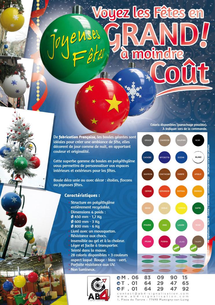 Boule De Noel GéAnte DéCoration Boules de noël géantes pour une décoration fête de noel