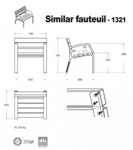 fauteuil-alumium-bois-similar