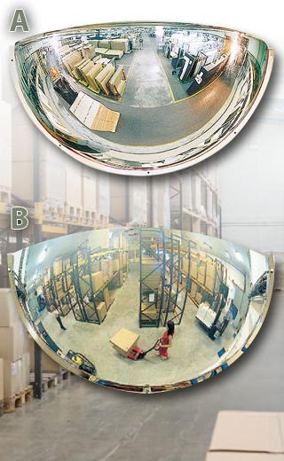Miroirs hémisphériques